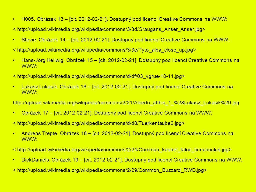 H005. Obrázek 13 – [cit. 2012-02-21]. Dostupný pod licencí Creative Commons na WWW: